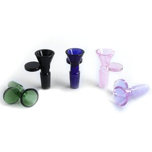 Smoking Accessories Five Colors 14mm 18mm Male Glass Bowls for Herb Tobacco Bongs Water Pipes