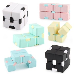 Infinite Rubik's Cube Candy Color Fidget Puzzle Anti Decompression Toy Finger Hand Spinners Fun Toys Relieve stress
