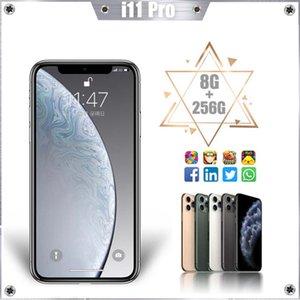 Cellphones Versão Global Android i11Promax Smartphone 6.5inch Dual SIM Cartões Mobile Phone 3G 4G Cell Smart Phones Face Desbloqueio
