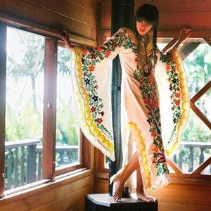 Dubai Delle Donne Delle Donne Abiti Arabi Kaftano Marocchino Boemia Dress da sera Farfalla Stampa Farfalla Autunno Inverno Robes Arabo Hijab Caftano