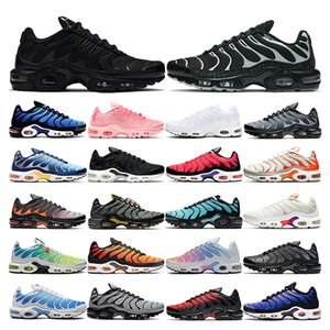 2021 tn plus running shoes mens black White Volt Glow Hyper blue pink Oreo women Breathable sneaker trainer outdoor sport fashion size 36-46