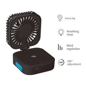 Electric Fans портативный портативный потенциальный вентилятор беспроводной прохладный туман Увлажнители с USB аккумуляторные складные путешествия