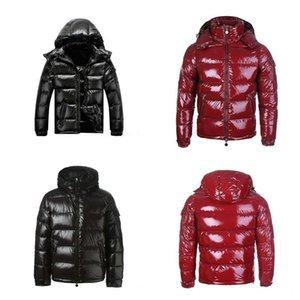 2021 최고 품질의 고전적인 겨울 아래로 자켓 후드 자켓 남자 바람 방풍 따뜻한 검은 빨간색 코트 여성 겉옷 두꺼운 streetwear 옴 메 패션 야외 크기 S-3XL
