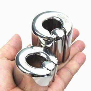 9 Dimensioni Boccoscli Maschili Scroto Cravatta Peso Peso Pendenti in acciaio inox Bondage Penis Anello Testicolare Anello Blocco Bb2-2-42