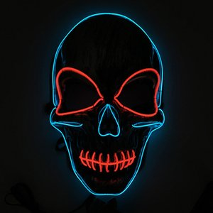 Halloween Mask LED Light Up Funny Masks Halloween Cosplay Costume Supplies Party Mask Skull Terror Luminous Full Face Masks BH3996 TQQ