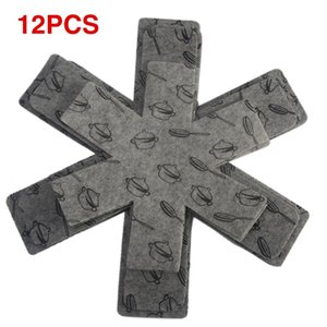 Mats & Pads Prevent Cookware Divider Pan Protectors Gray Separate Pot Print Surfaces Scratching Protect