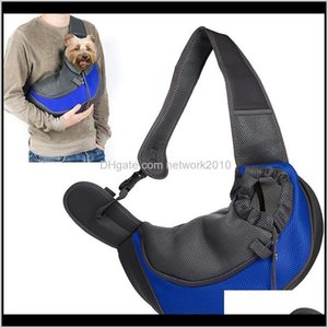 Comfort Dog Carrier Outdoor Handbag Pouch Oxford Single Pet Product Sling Mesh Travel Tote Shoulder Bag Knvpz Jwsx7