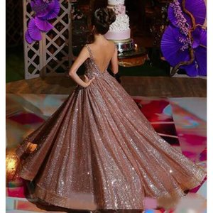 Modern Rose Gold African Reflective Quinceanera Dresses Beaded Crystals Backless Sequined Prom Gowns Sparkly Formal Party Dress