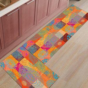 Arancione quadrati cerchio arte astratta arte cucina moderna bagno bagno antiscivolo tappeti soggiorno corridoio tappeto tappeto atrò tappeti