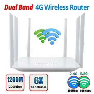 LT260 2.4G 5.8G Dual band 1200Mbps CAT6 32 Wifi Users Router Portable spot Unlocked WIFI Whit Sim Card Slot 210918