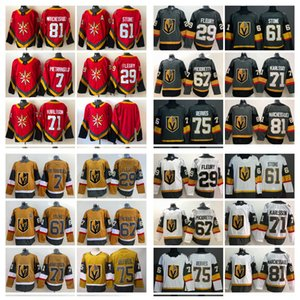2021 Vegas Golden Knights Hockey Jerseys Mens Marc-Andre Fleury Jersey Mark Stone Ryan Reaves Zach Whitecloud William Karlsson Max Pacioretty Stitched