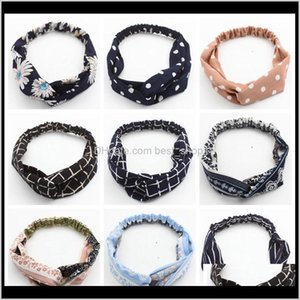 Baby, Kids & Maternity Drop Delivery 2021 Cross Knot Headbands Bohemian Turban Bandage Bandanas Girls Bands Head Wrap Face Wash Hair Accessor