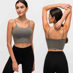 Activewear Esportes Bras Curto Padded Strappy Tops Aberto Treino Back Tops Curto Yoga Dança Athletic Tank Crop Tops Camisas para mulheres