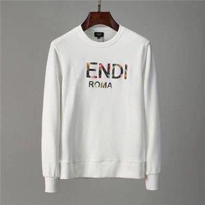 2021 Осенняя мода свитер мужская буква короткая футболка круглая шейка неудачна с длинными рукавами пуловер двухцветный оптом