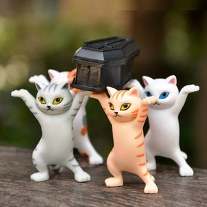 5 Types Of Dancing Cat Figures Anime And Enchanting Kitty Toy Doll Ornaments Unique Cute Cat Table Decoration