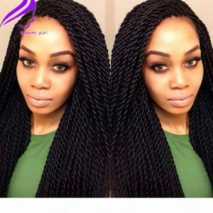 High quality synthetic Braided Lace Front Wigs senegalest twist color #1b #613 #2 Brazilian African American Women Wigs With Baby Hair