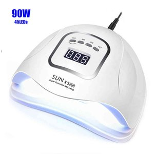 SUNX5 Max 90 72W LED Lamp Nail Dryer 45 36 LEDs UV Ice Lamp For Drying Gel Polish 10 30 60 99s Timer Auto Sensor Manicure Tools L0407