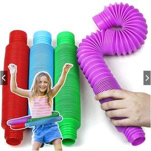 Party Pop Tubes Sensory Fidget Toy Autistic Fidgets for Kids Children Stress Relief DIY Splicing Toys