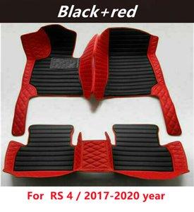 Для Audi Rs 4 / 2017-2020 год пользовательских автомобилей сплавных ковриков для пола Водонепроницаемые кожаные износостойкие нетоксичные безвкусные и экологически чистые коврики для ног