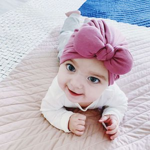 Xinjiang Cotton 2021 New spring and summer Indian bowknot baby children's scarf Hat