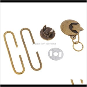 Sewing Notions Tools Apparel Drop Delivery 2021 1 Set Diy Vintage Metal Purse Frames C Shape Clasps Lock Coin Bag Accessory Xu9Pa