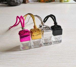 Новые домашние аксессуары Cube полые автомобильные парфюмерные флакон заднего вида зеркало украшения подвеска воздух свежий эфирный масло диффузионный аромат