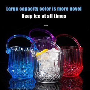 Ice Buckets And Coolers Ly 1pcs Bucket Transparent Round Wine With Removable Handle For Restaurant KTV Bar Acrylic VA88