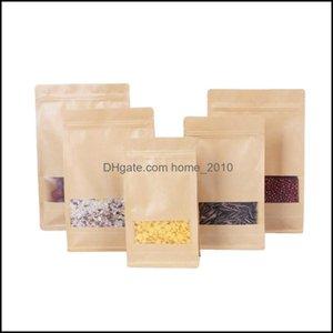 Bk Kitchen Storage Housekee Organization Home & Gardenkraft Tea Of Dried Fruit Food Packaging Octagonal Brown Paper Bags Sealed Frosted Wind