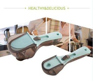 Strumenti di misurazione della cucina Strumenti di plastica ambientali Cucchiaini regolabili Spoon regolabili Impostare lo strumento di cottura PP + ABS + TPR