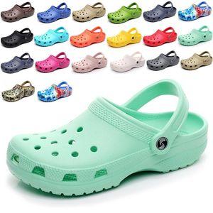 2021 SATIHU Slip On Casual Beach Clogs Waterproof Sandals Women Classic Nursing Slippers Hospital Men Work Medical Shoes