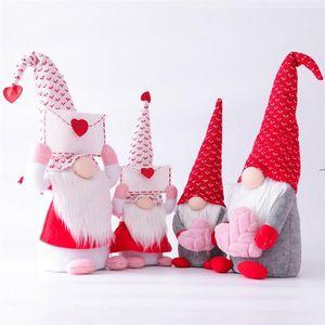 Gnome Faceless Plush Doll Christmas Decoration Santa Handmade Ornament Xmas Tree Decor Party Favor Supplies HWD9252
