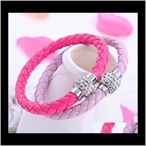 Drop Delivery 2021 Top Grade Infinity Bracelets Fashion Leather Braided Charm Bracelet For Women Girl Boy Jewelry Wholesale Hsq3A