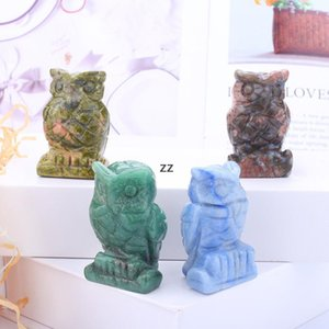 Crystal Owl Arts And Crafts Statue Ornaments Desktop A Living Room Chinese Style Ornament 1.5 Inch HWD8940