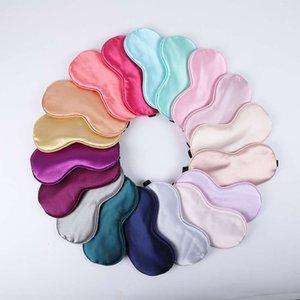 shade embroidered color light plate Silk satin sleeping eye mask