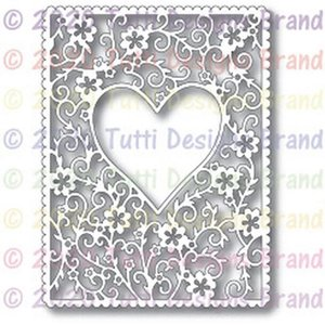 Painting Supplies Floral Heart Frame DIY Handicrafts Cutting Dies Metal Stencils For Scrapbooking Stamp Paper Card Embossing