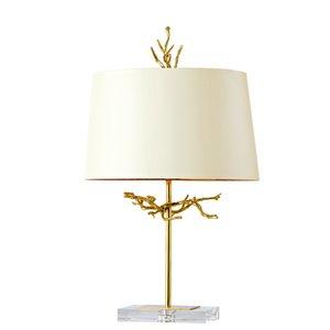 Postmodern minimalist fashion brass crystal luxury decorative table lamp for living room