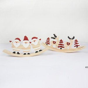 Wooden Christmas Painted Pendant Home Decorations xmas Tree Ornaments Pendants Toys deck Decoration DHF10673