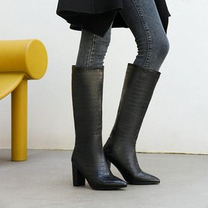 Round Toe Lady Boots Thigh Heels High Sexy Pointe Shoes Stiletto Over-the-Knee Pointy Mid Calf Low Knee
