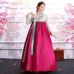 Этническая одежда Корейский стиль традиционный ретуо Винтаж ханбок платье для женщин V-образным вырезом вечерняя вечеринка Лединик Национальные костюмы