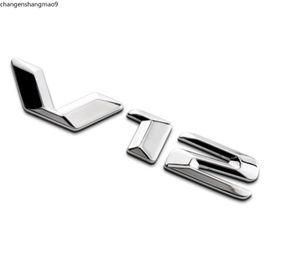 "Chrome "" V12 "" ABS Number Letters Trunk Side Badge Emblem Emblems Decal Sticker for Mercedes Benz Maybach S600"