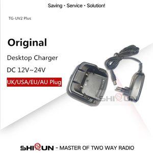 Walkie Talkie Original Desktop Charger For Quansheng 10W TG-UV2 Plus DC 12V ~ 24V Quality Accessory