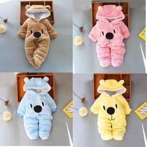 Bebek Bebek Yenidoğan Erkek Tasarımcı Giysi Kış Kız Romper Kızlar Tasarımcı Snowsuits