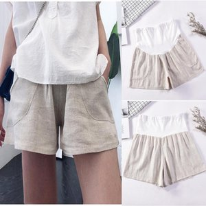 Cotton Maternity Shorts Pregnant Women Summer Thin Loose Short Pants Pregnancy Outside Khaki Black Trousers Bottoms
