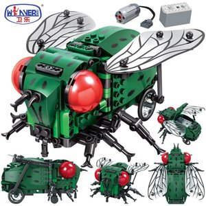 Erbo Creator, смоделированные насекомых DIY электрические блоки городки Техника MOC Модель здания кирпичи наборы игрушки для подарков цидрена 1008