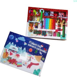 New! Fidget Toys Christmas Blind Box Favor 24 Days Advent Calendar Kneading Music Gift Boxes Countdown 2021 Children&#x;s gifts DHL q14