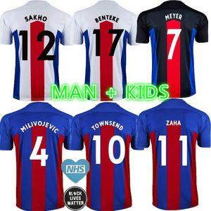 Hommes + enfants 20 21 Jerseys de football 2021 Zaha Milivojevic Townsend Sakho Benteke Batshuayi Chemises de football Uniformes Thaïlande