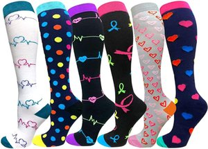 Men's Socks Compression Stockings Women Running Sports Knee High For Edema Diabetes Varicose Veins Men Cycling