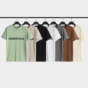 T-shirt de los hombres de la marca de moda de Dios de la marca suelta de la manga corta de la niebla y la camisa del fondo WO FD7J