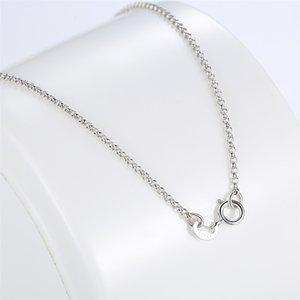 Klasik Temel Zincir 100% Gerçek 925 Ayar Gümüş Istakoz Toka Kolye Fit Kolye Kadın Erkek Güzel Takı için 576 T2