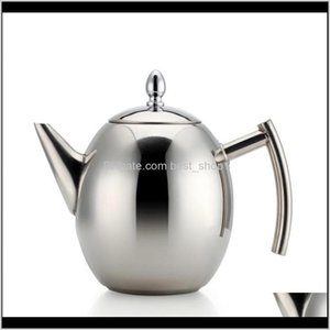Teapots Stainless Steel Teapot Kettle With Filter Large Capacity Heat Resistant Coffee Infuser Office Teaware Sets Home Tea Pot 6Nyt6 Fgbzm